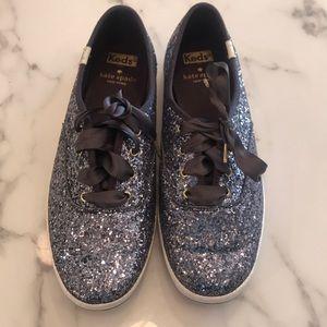 Kate Spade for Keds purple glitter size 7.5
